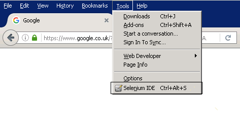 Selenium_IDE_From_Tools